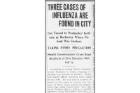 1918: An influenza outbreak begins in Buffalo, contributing to 2000+ deaths in the city, 50,000,000 worldwide.