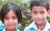Two children from third world country.