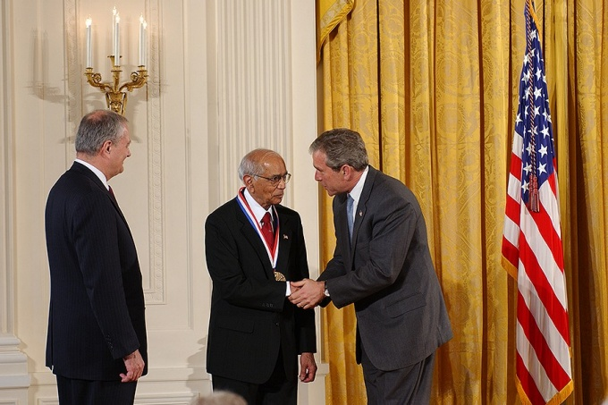 C.R. Rao received the National Medal of Science in 2002 from President George W. Bush.