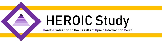 Health Evaluation of the Results of Opioid Intervention Court logo.