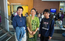 Burmese refugees attending an event at UB.