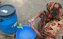 Bangladesh woman hand washing